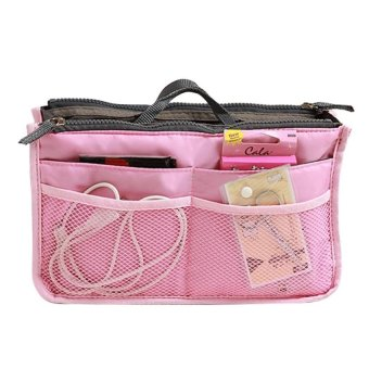 Harga Rafa Korean dual bag / Organizer Double Resleting - Pink Muda