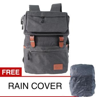 Prosport 643-17 Backpack + Rain Cover - Black