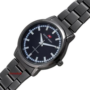 Swiss Army Quartz Watch SA 6033 GENT FB Free Jam Tangan Casual Jam .