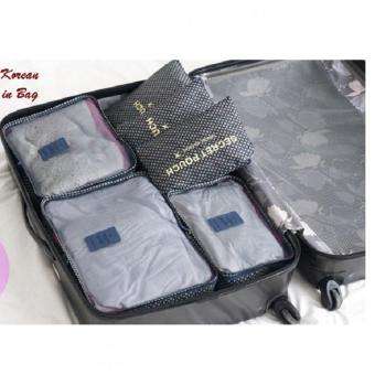 Harga Rafa Bags in Bag Travel Motif 4th Gen Set Organizer 6 in 1 - Navy Dot