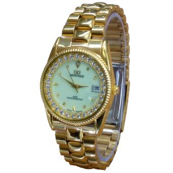 Mirage Date - Jam Tangan Wanita - Stainless Steel - MRG 668 WHITE GOLD ...