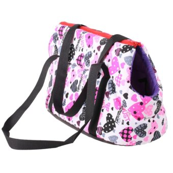 Harga Pet Dog Carrier Canvas Handbag Travel Carrying Bag for Dogs and Cats (Pink) (S) - intl