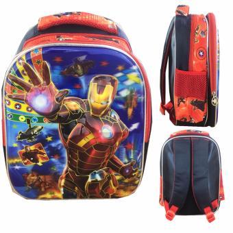 BGC 5 Dimensi Avenger Iron Man Power Tas Ransel Anak TK IMPORT Full .