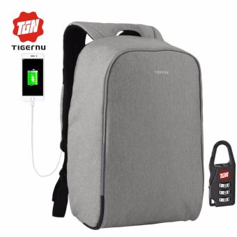 Harga Tigernu Waterproof Anti-theif Laptop Backpack fit for 12-15.6inches Laptop with USB Charging Port3213 (light grey)