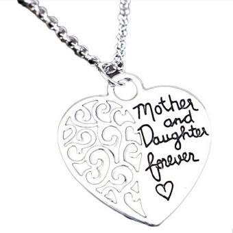 1pc Silver Color Fashion Charming Jewelry Accessories Mother & Daughter Eternal Love Alloy Pendant Necklace ...