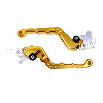 RajaMotor Aksesoris Motor Handle Kawasaki Ninja 250 KLX Stel Lipat CNC Model Bikers Gold