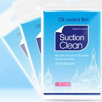Harga 2x pack Clean and Clear Oil absorbing sheets Oil Control Film Blotting Paper - intl