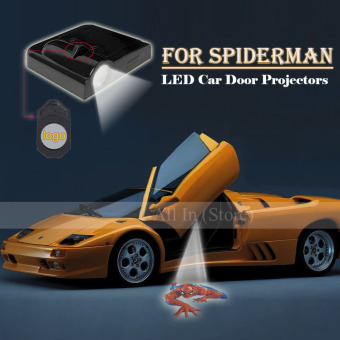 Harga 2Pcs Car Door Projector Welcome Lights for (SPIDERMAN)-No Drilling Required - intl