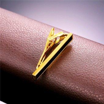 Detail Gambar U7 email penjepit dasi yang anggun untuk Men Fashion 18 KB nyata emas berlapis