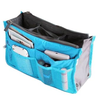 Harga Rafa Korean dual bag / Organizer Double Resleting - Biru Muda