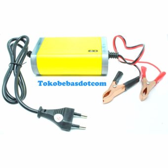 Harga Portable Motorcrycle Car Battery Charger 12V/2A - Yellow