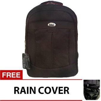 Harga PoloClub Decker Laptop Backpack with Raincover - Coklat