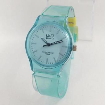 Harga QQ Watch - Transparan - Jam Tangan Wanita - Rubber Strap - Water Resist