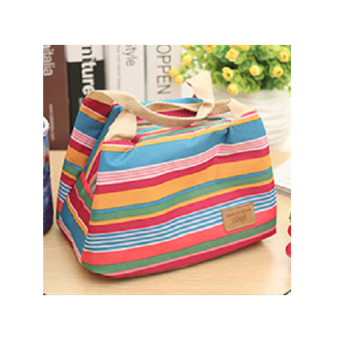 Harga Rafa Lunch Bag Cooler Motif Salur - Maroon