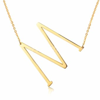 Letter Necklaces Pendants Alfabet Initial Necklace 24K Gold Stainless Steel Choker Necklace Women Jewelry Kolye Collier