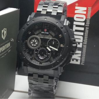 Expedition Jam Tangan Pria Expedition E6402MC Chronograph Black Stainless Steel