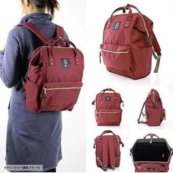 Harga Anello Tas Ransel Backpack Polyester AT-B0193A Large - Red Wine