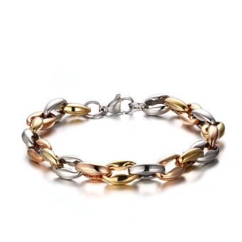 Titanium Steel Three Colors Interphase Classical Bracelet for Men Great for Gifts