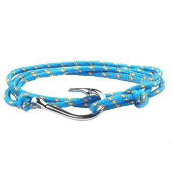 Fish Hook Bracelet Rope Bracelets Wrap Hook Bracelet for Men Women - intl ...