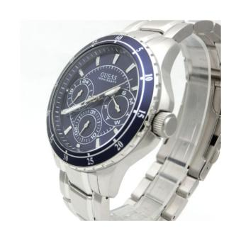 Detail Gambar GUESS W0670G2 - Jam Tangan Pria - Stainless - Silver - Blue Terbaru