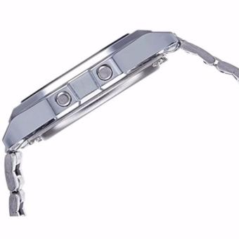 Jam Tangan Pria Casio A158WA 1DF Stainless Steel Digital Watch Silver 3 .