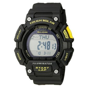 Casio Men's STL-S110H-1CCR Tough Solar Runner Digital Black Watch (Intl)
