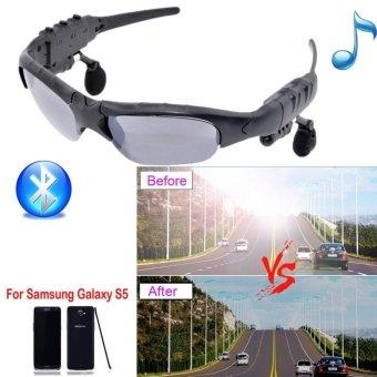 Detail Gambar Moonar Fashion Multifunctional Bluetooth Stereo Headphone Rotatable Lense Sunglasses - intl Terbaru