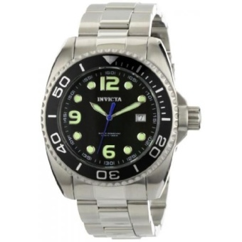 Invicta Mens 0480 Pro Diver Collection Black Mother-of-Pearl Dial Stainless Steel Watch - intl