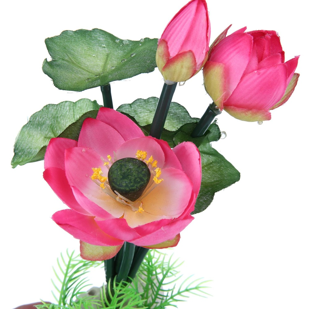iooilyu Beautiful Artificial Landscaping Plants Water Lilies WaterPlant Decoration for Aquarium Fish Tank , Red - intl