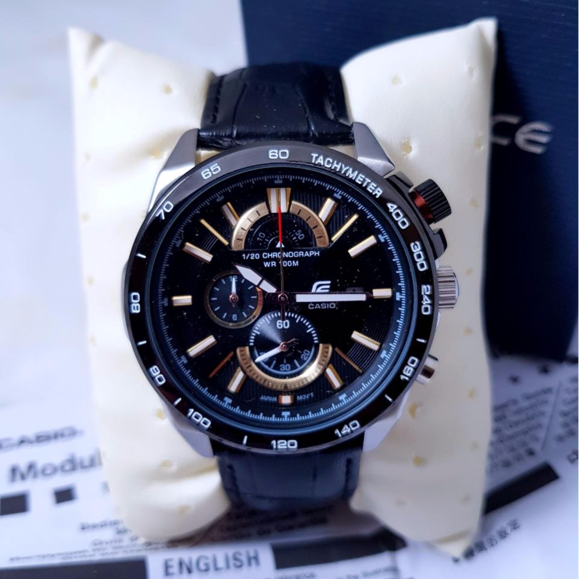 Jual Sa Swiss Army Air Force Kulit Jam Tangan Pria Keren Murah Di Body Black Dial. Source · Jam Tangan Casioo Ediificee EF-520 Leather Black .