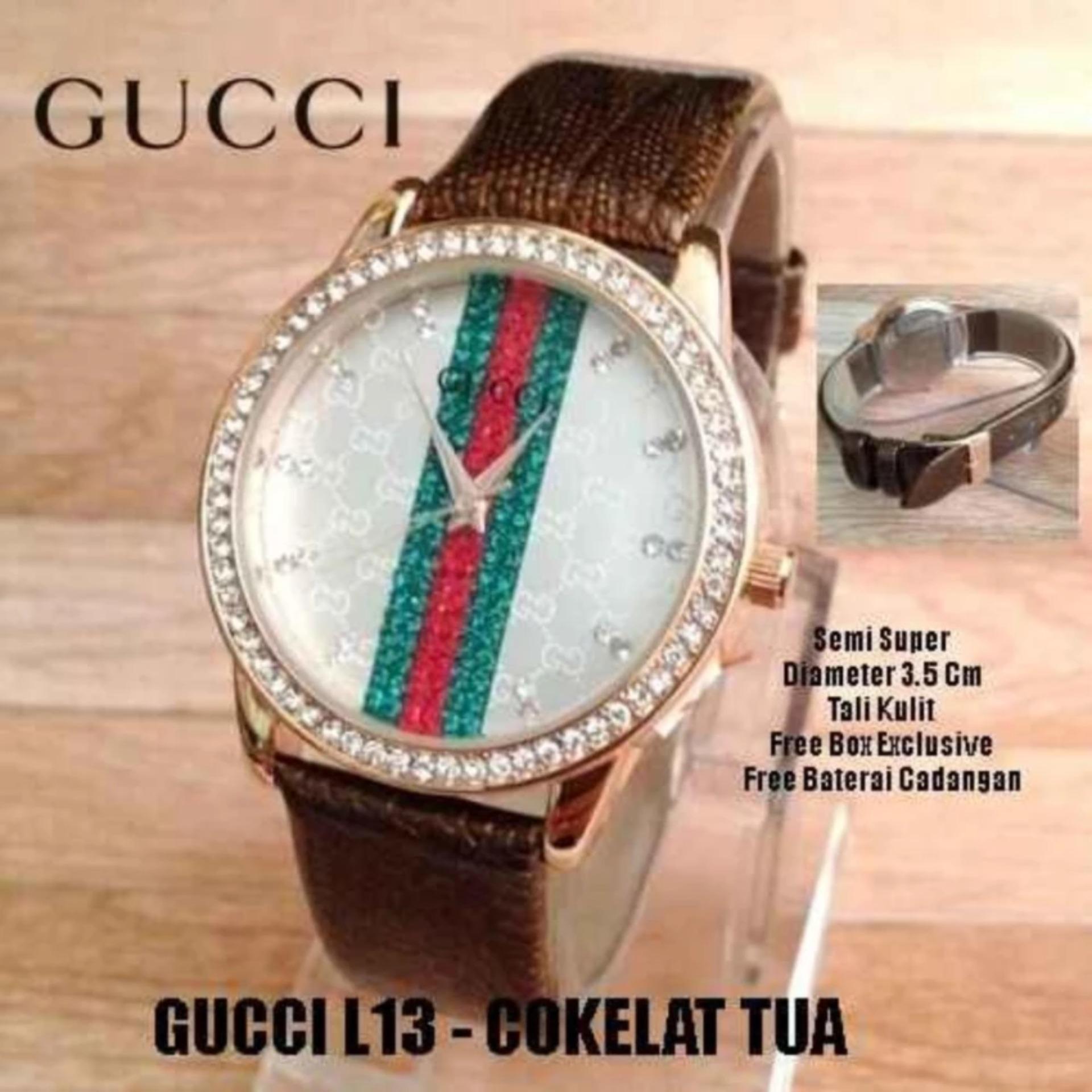Jam Tangan Fashion Wanita Wacta Gucci Silver5 Daftar Harga Terkini Valentino Rudy Vr108 2337 Silver Black Flash Sale Tali Kulit Two Tone