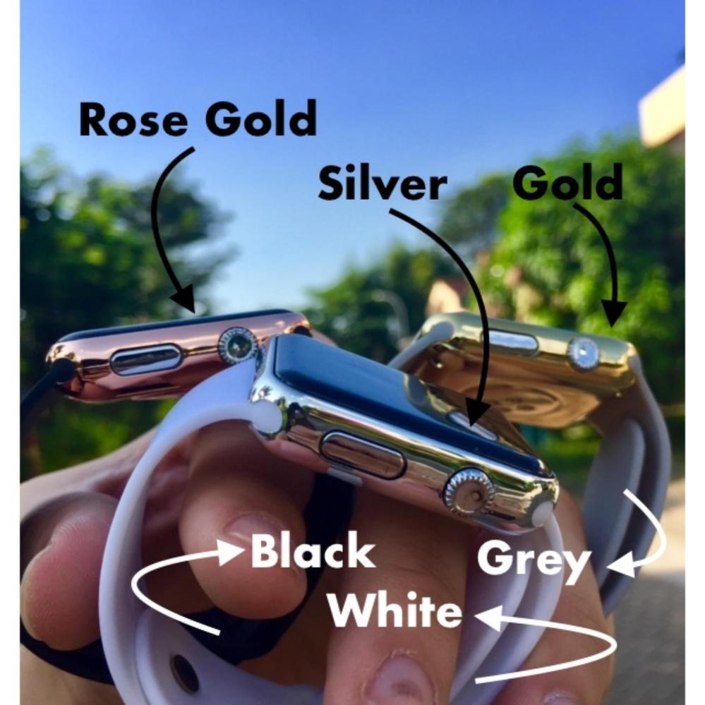 Jam Tangan LED - Jam Tangan Pria dan Wanita - Strap Karet - Biru Gold ... eefff7e206