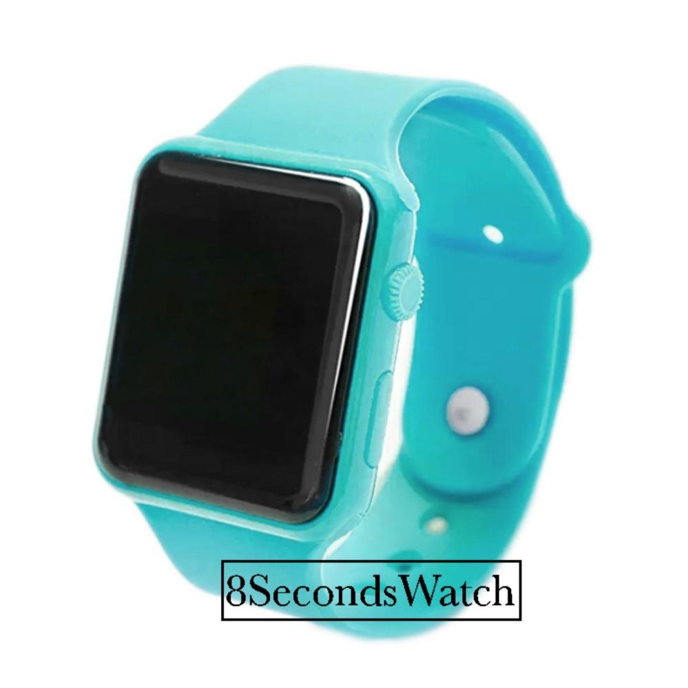 ... Merah Muda Source Jam Tangan LED Jam Tangan Pria dan Wanita Strap Karet Hijau Tosca Apple