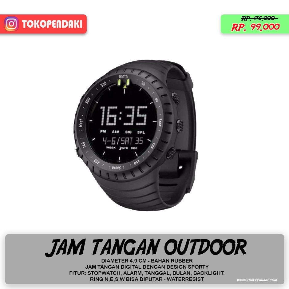 Water Resistant Jam Tangan Outdoor Suunto Digital Watch Alarm Stopwatch Tanggal