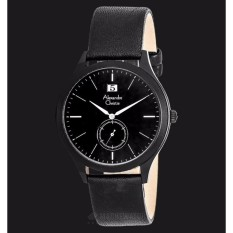 jam tangan pria alexandre christie Ac 8440 kulit hitam