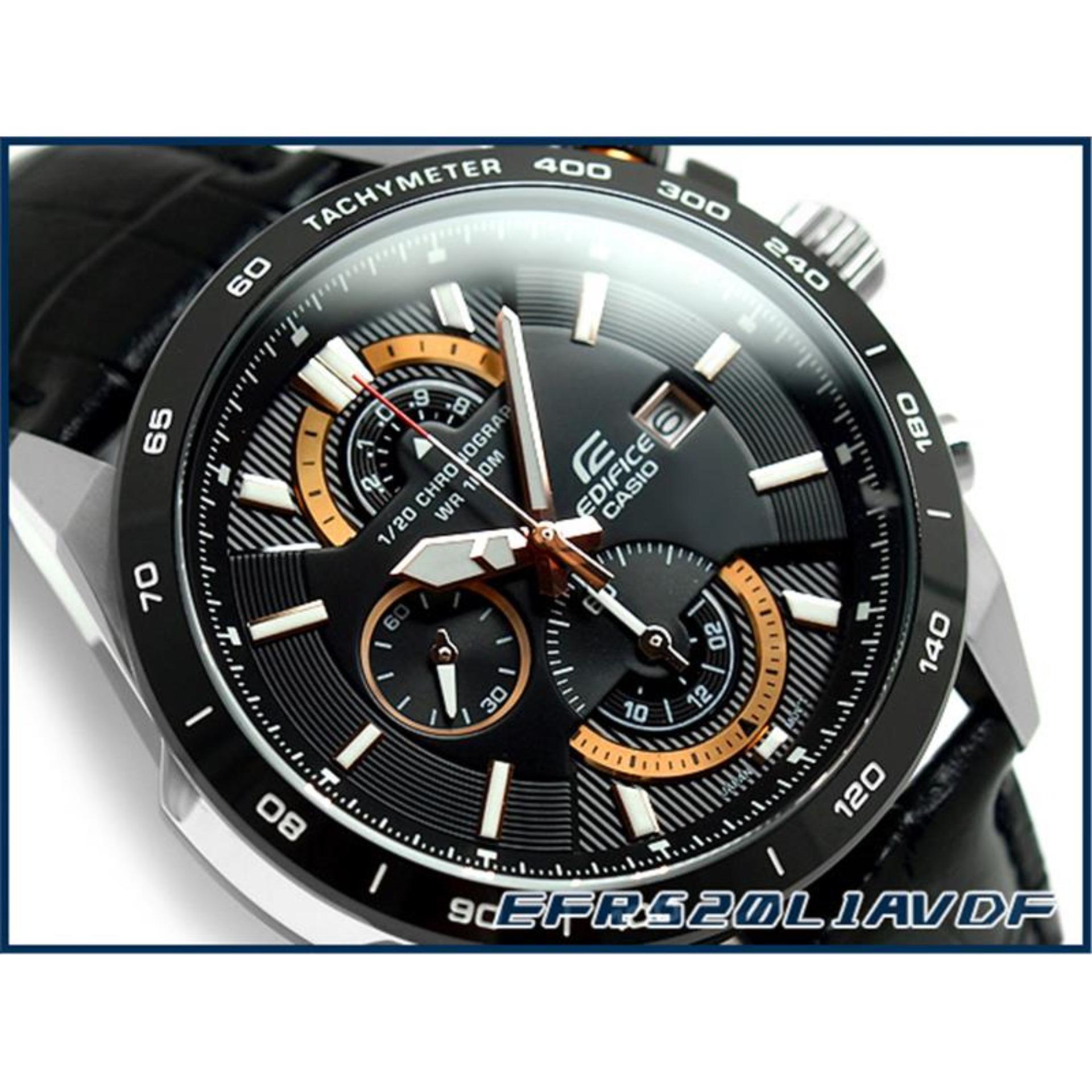 Casio Edifice Efr 520l 1av Jam Tangan Pria Hitam Daftar Harga 522d 1avdf Stainless Steel Black Strapp Leather
