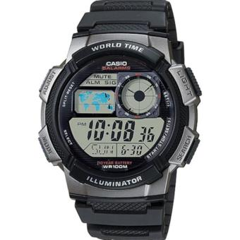 Jam Tangan Pria Casio Original Digital - Anti Air - Tali Ressin - AE-1000W-1BVDF Hitam