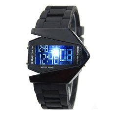 Jam Tangan Pria Digital LED Light Strap Karet Sports Men Wrist Watch