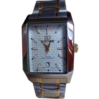 Jam tangan Pria Formal MIRAGE Original Strap Rantai