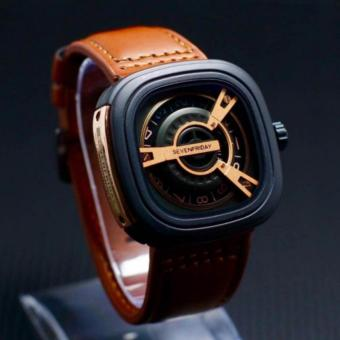 Jam Tangan Pria Seven-friday Casual dan Exclusive- Genuine Leather Strap-Stainless Steel