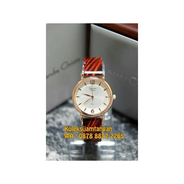 Flash Sale JAM TANGAN WANITA ALEXANDRE CHRISTIE 2571 ROSE GOLD MERAH ORIGINAL