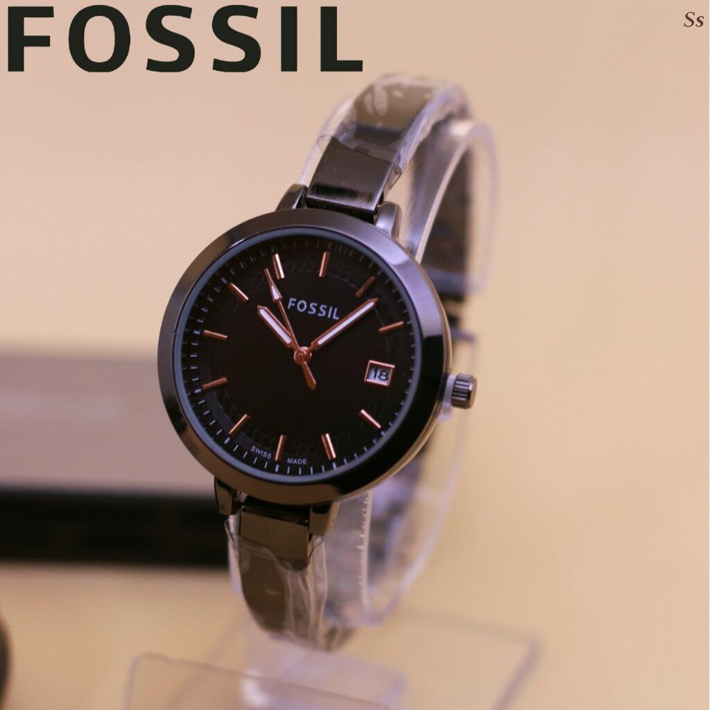 Fossil Original Boyfriend Es3841 Jam Tangan Wanita Chronograph Es3737 Casual Fashion Dan Elegant Tanggal Aktif Rose Case Gold