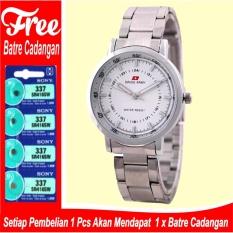 Jam Tangan Wanita Swiss Army time Elegant - Silver - Stainless - SA 5108 Rantai