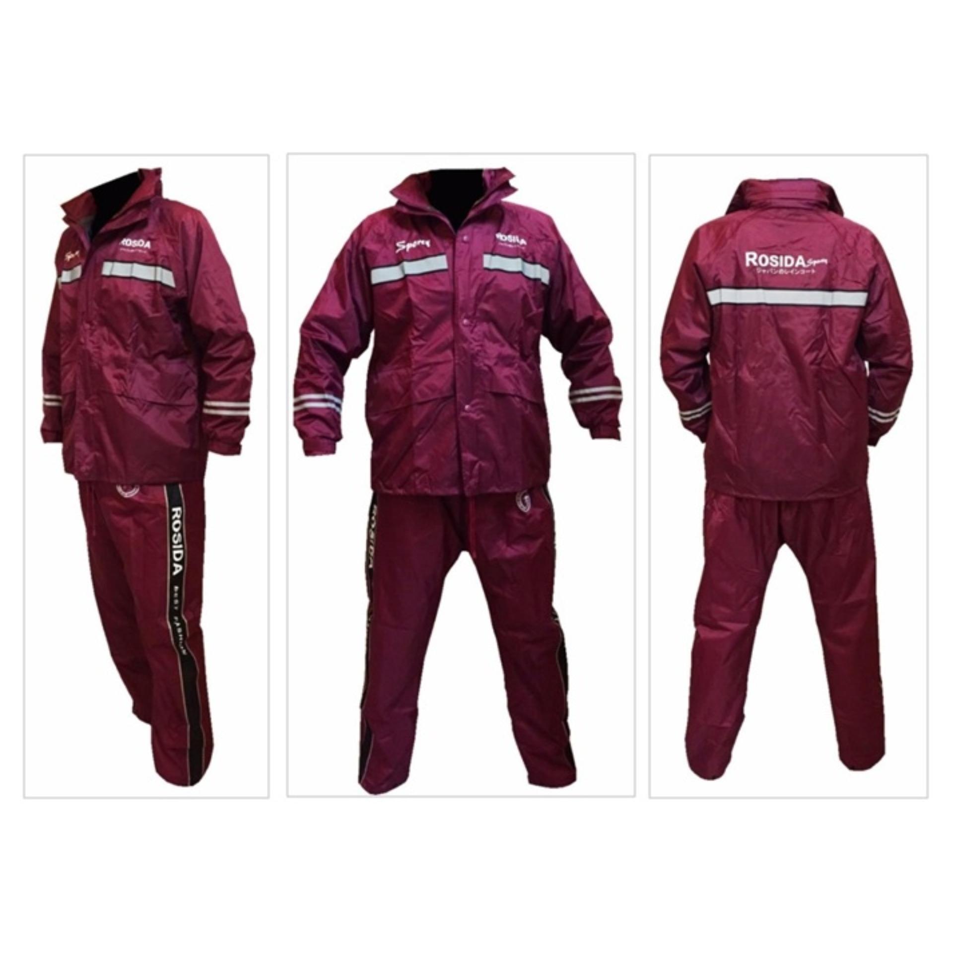 Flash Sale Jas hujan Rosida 882 Sporty Edition Merah Marun
