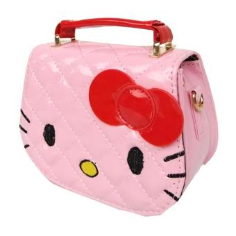 JCF Tas Anak Branded Fashion Helo Kiti Kids Sling Bag Import - Pink Muda - 2