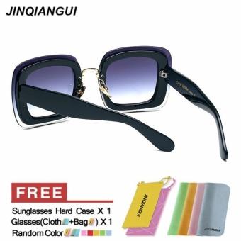 Kacamata Hitam Wanita Elegan Pc Uv400 Kacamata Matahari Warna Film Eyewear Coklat Daftar .