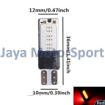 JMS - 1 pair (2 pcs) Lampu LED Plasma Mobil / Motor / Senja T10 /Wedge Side Canbus COB 24 SMD - Red - 3