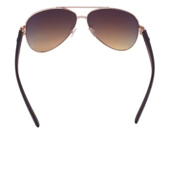 JRS Kacamata Unisex Gold lengan kacamata Hitam Pilot Proteksi UV 400 Lensa  Gradient Merah 2766RV 6245881256