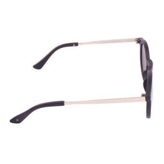 Harga JRS Kacamata Unisex Hitam lengan kacamata Gold Bundar Proteksi UV 400  Lensa Kuning Mirror P3042 4708605e42