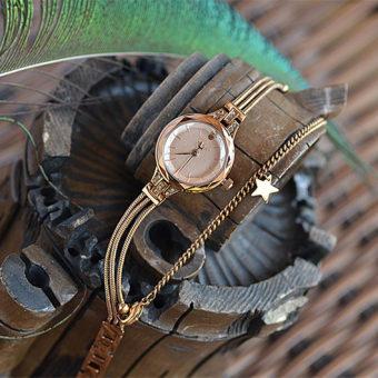 ... Online murah Julius Korea Fashion Style Sangat Kecil Lempeng Arloji Jam  Tangan Gelang Jam Tangan Belanja 9d2e06cc62